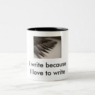 I love to write t-Shirt Two-Tone Coffee Mug