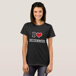 I Love Toboggans T-Shirt