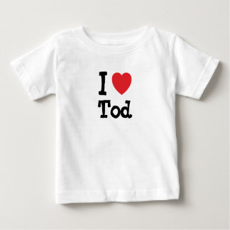 I love Tod heart custom personalized Tees