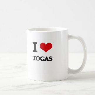 I love Togas Basic White Mug