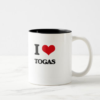 I love Togas Two-Tone Mug