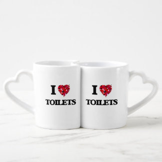 I love Toilets Couple Mugs