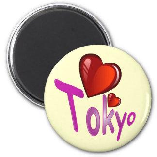 I Love Tokyo! 6 Cm Round Magnet