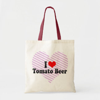 I Love Tomato Beer Tote Bags
