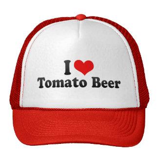 I Love Tomato Beer Hats