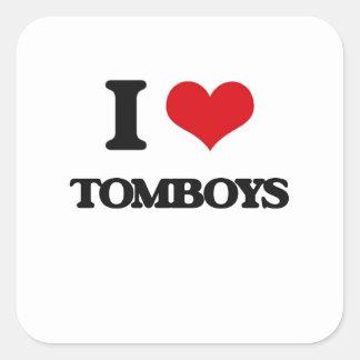 I love Tomboys Square Sticker