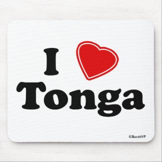 I Love Tonga Mousepad