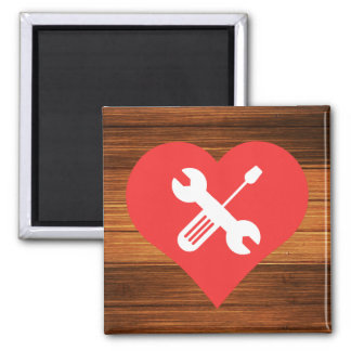 I Love Tool Boxes Square Magnet
