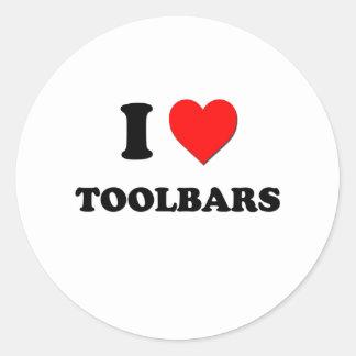 I love Toolbars Round Stickers