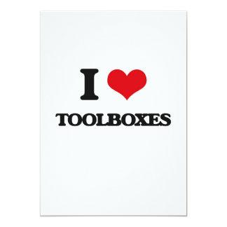 "I love Toolboxes 5"" X 7"" Invitation Card"