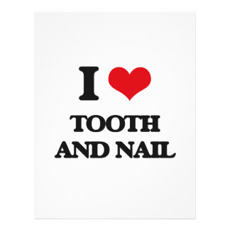 """I love Tooth And Nail 8.5"""" X 11"""" Flyer"""
