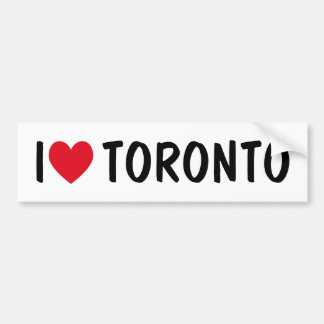 I LOVE TORONTO Bumper Sticker