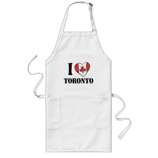 I Love Toronto Canada Long Apron