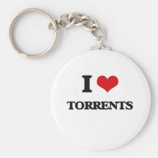 I Love Torrents Key Ring
