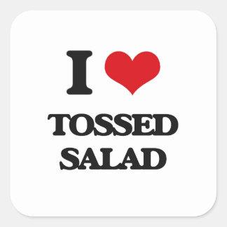 I love Tossed Salad Square Sticker