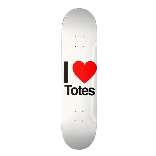 i love totes custom skate board