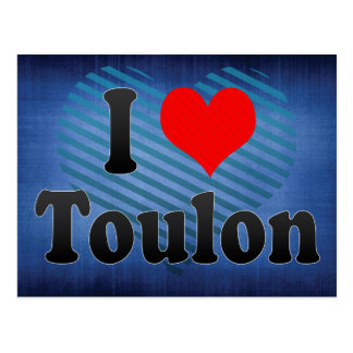 I Love Toulon, France Postcard