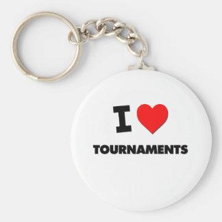I love Tournaments Keychain