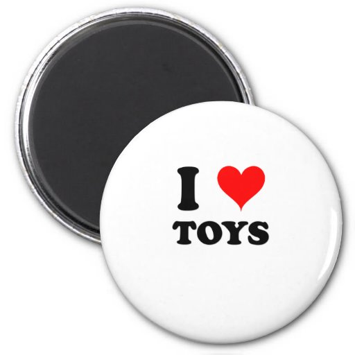 I Love Toys Fridge Magnets