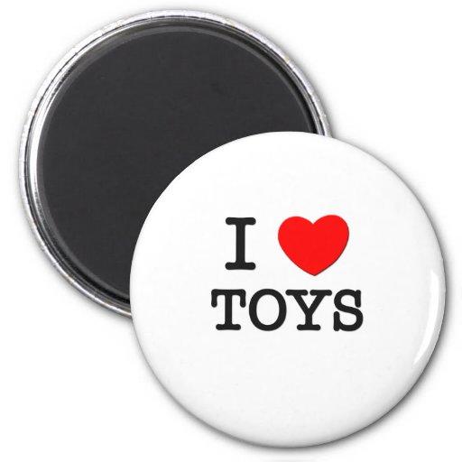 I Love Toys Refrigerator Magnets