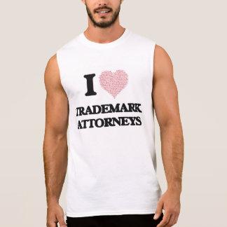 I love Trademark Attorneys (Heart made from words) Sleeveless Tee