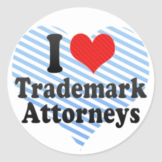 I Love Trademark Attorneys Stickers