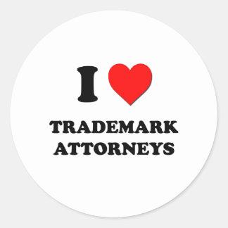 I Love Trademark Attorneys Sticker