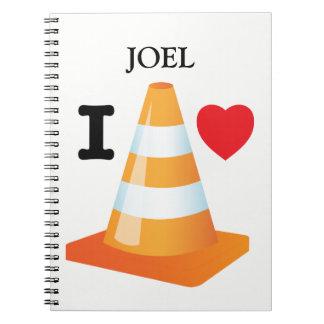 I Love Traffic Cones Fun Student Graduation Note Books