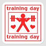 I Love Training Day Stickers