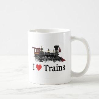 I Love Trains Basic White Mug