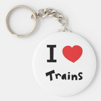 I love trains key ring