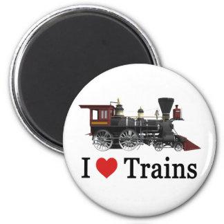 I Love Trains Magnet