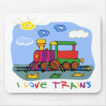 I Love Trains Mouse Mats