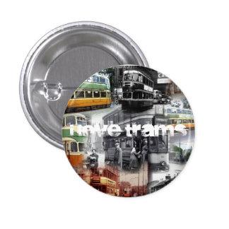 """I Love Trams"" Button/Badge 3 Cm Round Badge"