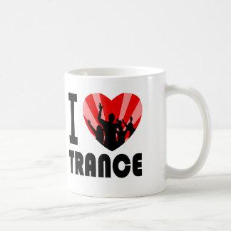 I love Trance Dancers design Basic White Mug