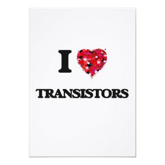 I love Transistors 13 Cm X 18 Cm Invitation Card