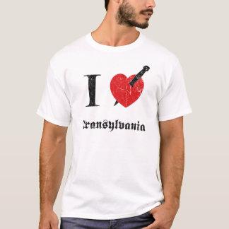 I love Transylvania (black eroded Font) T-Shirt