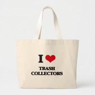 I love Trash Collectors Jumbo Tote Bag