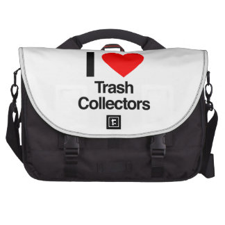 i love trash collectors bags for laptop