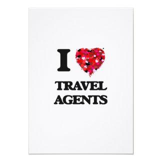 I love Travel Agents 13 Cm X 18 Cm Invitation Card