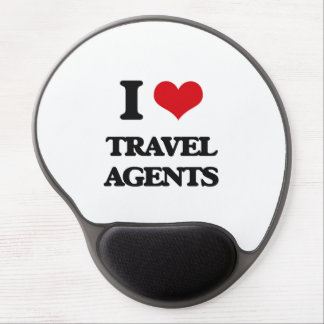 I love Travel Agents Gel Mouse Pad