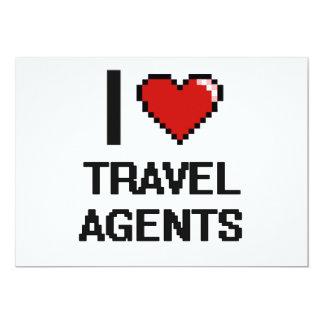 I love Travel Agents 5x7 Paper Invitation Card