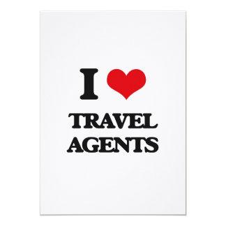 """I love Travel Agents 5"""" X 7"""" Invitation Card"""
