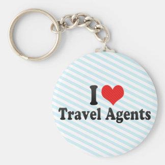I Love Travel Agents Key Chain