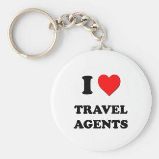 I Love Travel Agents Keychains