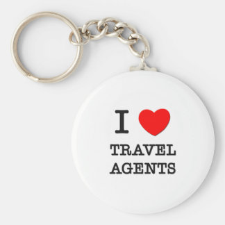 I Love Travel Agents Key Chains