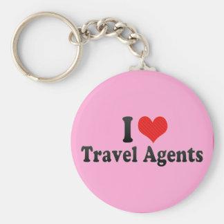 I Love Travel Agents Keychain