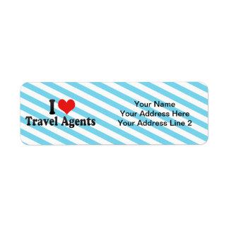 I Love Travel Agents Return Address Label