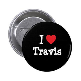 I love Travis heart custom personalized Button