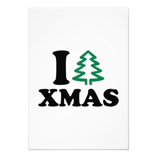 I love tree Xmas Announcement